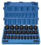 Grey Pneumatic (8029D) 3/4'' Drive 29-Piece Deep Fractional Master Socket Set