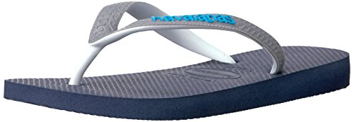 Havaianas Women's Flip-Flop Sandals, Top Mix ,Navy Blue/Steel Grey,37/38 BR (7-8 M (Mix Flip Flops Thong Sandals)
