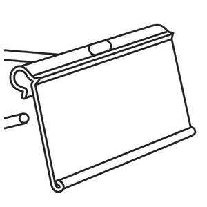 Clear Cover Holder Label Plastic (Flip Up Label Holders 2 x 1 1/4 Case of 100)