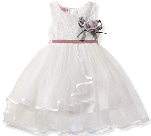 NNJXD Lace Pageant Princess Girls Flower Wedding Party