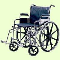 Medline 20 Inch Wheelchair - Medline Excel Extra-Wide Wheelchair, 20