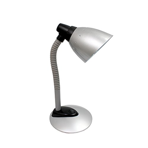 Simple Designs LD1008-SLV High Power LED Flexible Desk Lamp, Silver