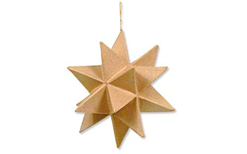 Craft Ped Paper CPL1003421 Mache Star Moravian Kraft, 6.5
