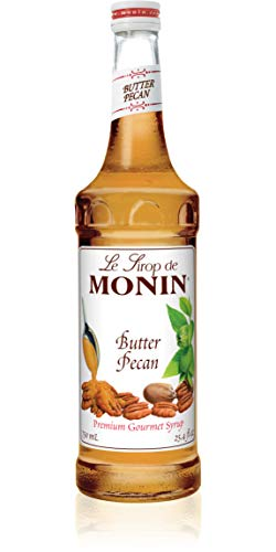 Monin - Butter Pecan Syrup, Smooth Flavor of Roasted Nuts and Vanilla, Great for Milkshakes, Mochas, and Coffees, Gluten-Free, Vegan, Non-GMO, Glass Bottle (750 ml) ()