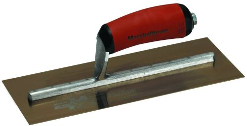 MARSHALLTOWN The Premier Line MXS1GSD 11-Inch by 4-1/2-Inch Galvanized Steel Finishing Trowel with Curved DuraSoft - Finishing Trowel 11