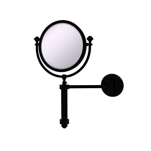 Allied Brass SB-4/3X Southbeach Collection Wall Mounted 8 Inch Diameter with 3X Magnification Make-Up Mirror, Matte…