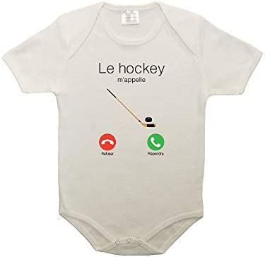 Mygoodprice Body b/éb/é 100/% Coton Le Hockey mappelle