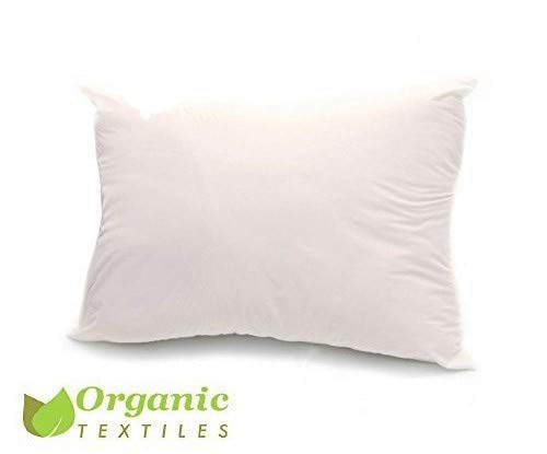 100% Natural Wool Filled Pillow (King Size) with Organic Cotton Cover Protector [GOTS Certified] - Adjustable Loft Height - Fine Australian Wool - Head and Neck Comfort Support - Machine Washable