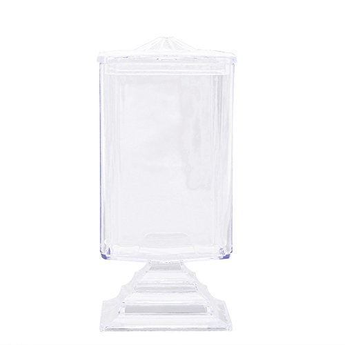 Cheap Jocestyle Makeup Cotton Pad Box Container Dispenser Clear Nail Art Remover Paper Storage Holder Organizer Case for cheap