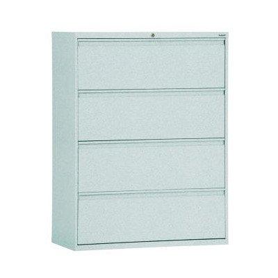 Sandusky Lee LF8F304-MG 800 Series 4 Drawer Lateral File Cabinet, 19.25″ Depth x 53.25″ Height x 30″ Width, Multi Granite