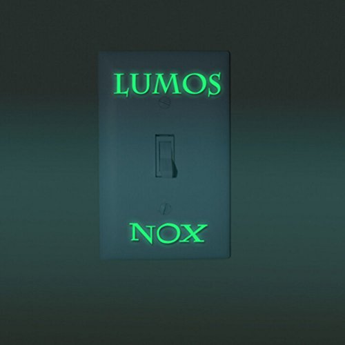 OKOKMALL US--1 Pcs LUMOS & NOX Luminous Switch Wall Sticker Funny Abracadabra Home Decor N7A
