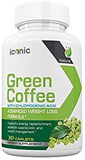 Iconic Green Coffee- Complete Premium Weight Management Formula-Natural and Potent Weight Loss Pills for Men and Women - Burn Belly Fat - Metabolism Booster -