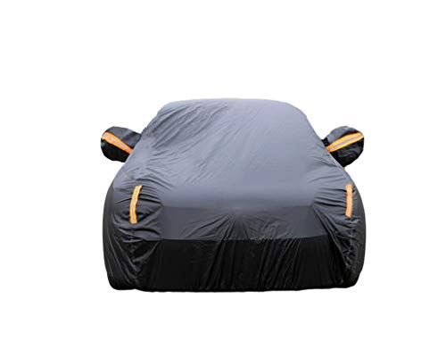 Suitable for Rolls-Royce Car Cover Rolls-Royce Cullinan Wraith Sweptail Ghost Dawn Phantom Sun Protection Rainproof Thicken Insulation Rolls-Royce Special Car Cover (Color : Black, Size : - Flame Ghost Paint