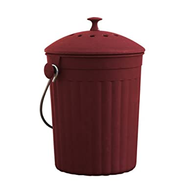 Natural Home 1-Gallon Red MOBOO Compost Bin with Filter