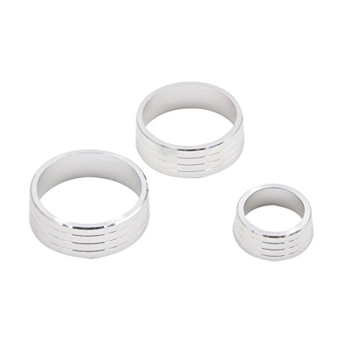 uxcell 3pcs Silver Tone Air Condition Audio Switch Decorative Ring Set for Honda City XRV by uxcell (Image #3)