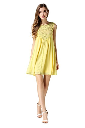 Yellow Baby Doll Dress - 1