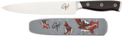 Guy Fieri Gourmet Triple Riveted Slicer with Tattoo Sheath (8-Inch)