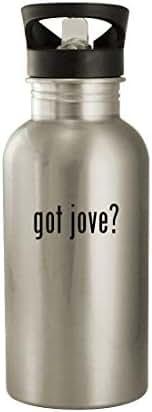 got jove? - 20oz Stainless Steel Water Bottle, Silver