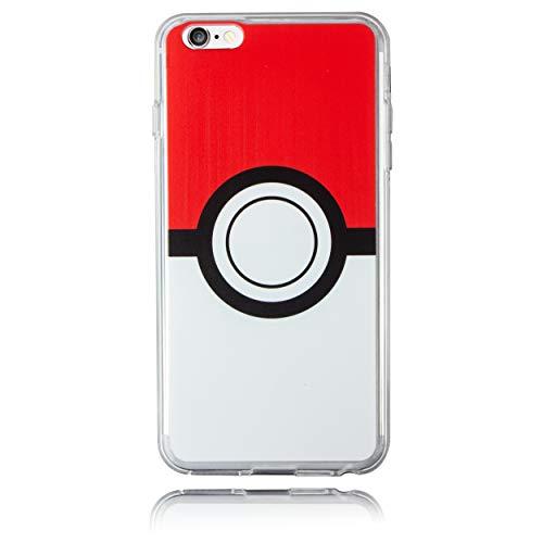 BRILA iPhone 6/6s Plus Pokemon Case, Poke Ball Style Case for iPhone 6 Plus/iPhone 6s Plus, Pokemon Go Case for iPhone 6s Plus (iPhone 6/6s 5.5