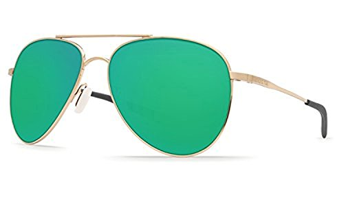 Costa Cook Sunglasses Gold / Green Mirror 580G & Cleaning Kit Bundle