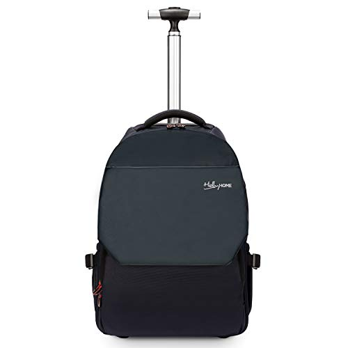 - 19 inches Large Storage Multifunction Waterproof Travel Wheeled Rolling Backpack by HollyHOME, Blue