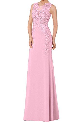 Dunkel Brautmutterkleider Rosa Braut La Marie Lang Elegant Abendkleider Spitze Etuikleider Chiffon Partykleider 6p7pSH