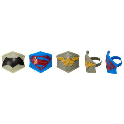 Batman v. Superman: Dawn of Justice Emblem Cupcake Rings - 24 ct