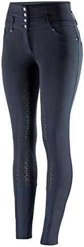 HORZE Women's Tara High Waist Silicone Full Seat Horse Riding Breeches - Black