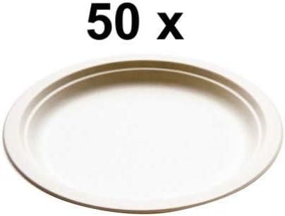 Platos de primera calidad de 17 cm, biodegradables, sin plástico ...