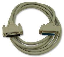 Computer Cable, D Sub 25 Position Plug, D Sub 25 Position Receptacle, 10 ft, 3 m, Grey