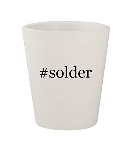 #solder - Ceramic White Hashtag 1.5oz Shot Glass