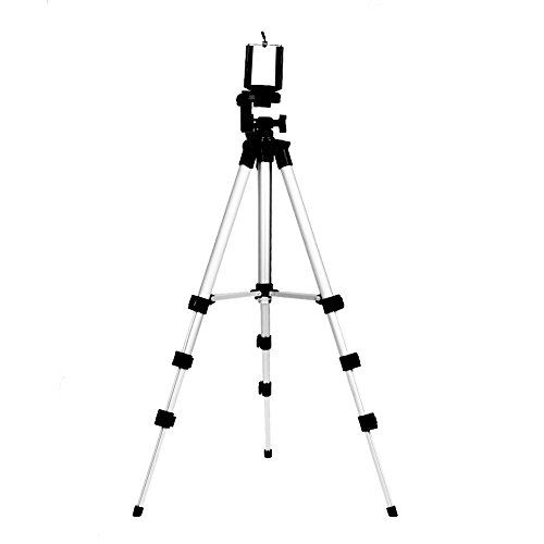 UEB Professional Camera Tripod Monopod Mount Holder Stand, Adjustable Rotatable Retractable Aluminum Tripods Smartphones Mount
