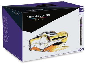 Prismacolor Premier Double-Ended Art Markers, Fine and Chisel Tip, 200 Pack by Prismacolor