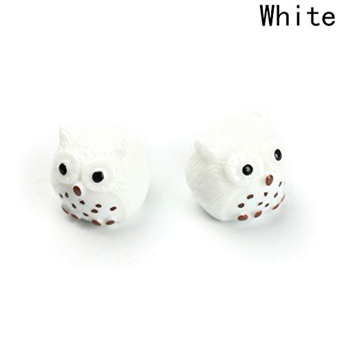 2Pcs Birthday Gift Mini Resin Owl Figurines Micro Landscaping Decor For Garden DIY Craft Accessories Kids HG8957WT