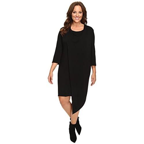 Christin Michaels Women's Plus Size nancee Cowl Neck Dress With Asymmetrical Hem free shipping
