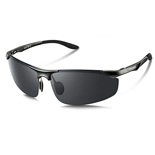 e88b0bde6a PAERDE Men s Driving Polarized Sunglasses for Men Al-Mg Metal Frame Ultra  Light PA03