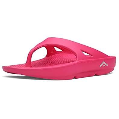 FANTURE Women's Thong Flip Flop Foot Pain Relief Arch Support Slipper and Sandals aura-Fuchsia-36