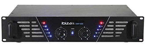 Ibiza Sound AMP600 Performance/stage Wired Black audio amplifier - Audio Amplifiers (480 W, 6.35mm, 300 mm, 520 mm, 150 mm) 10001763