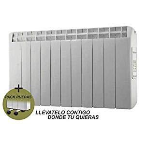 Pack RADIADORES ELECTRICOS Bajo Consumo XP + Juego de RUEDAS 1210 W • Digital