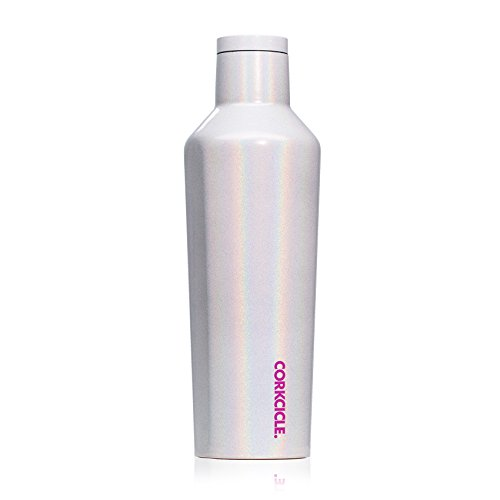 Corkcicle Canteen Classic Collection - Water Bottle & Thermos - Triple Insulated Shatterproof Stainless Steel, Sparkle Unicorn Magic, 16 oz