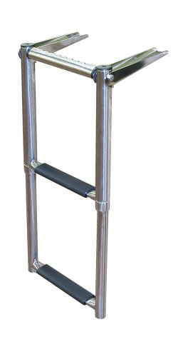 JIF Marine EQB2 Over Platform Telescoping Boat Ladder, 2-Step