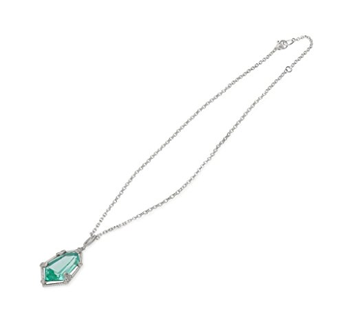 JUDITH RIPKA Martinique Synthetic Paraiba Spinel Hexagon Pendant With White Topaz Accents (Necklace Ripka Gemstone Judith)