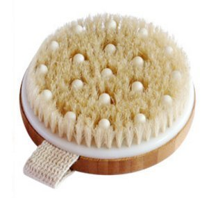 C.S.M. Body Brush for Wet or Dry Brushing - Gentle Exfoliating for Softer, Glowing Skin - Get Rid of Your Cellulite and Dry Skin, Improve Your Circulation - Natural Bristles and Gentle Massage Nodes