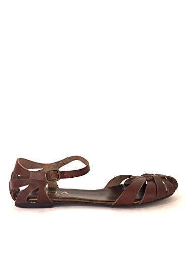 de SHOES de Sandalias ZETA marrón para Piel vestir mujer FPwEdIdnq