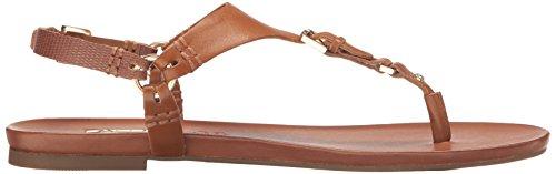 Aldo Women's Joni Flat Sandal, Cognac, 7 B US