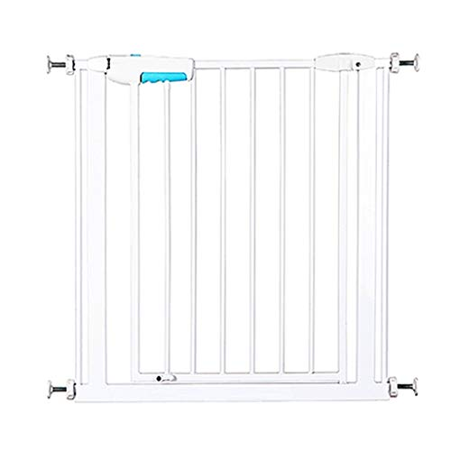- Huo Baby Gate Adjustable White Metal Safety Gates for Children for Stairs,for Cat Baby Gate and Play Yard Wall Protector for Stair Doorways 75-194.4cm Wide (Size : 187.5-194.4cm)