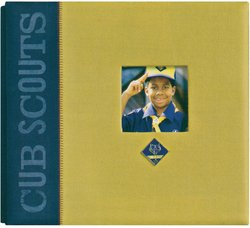 K&Company Boy Scouts of America Window Metal Emblem Scrapbook, 12-Inch-by-12-Inch, Cub Scouts