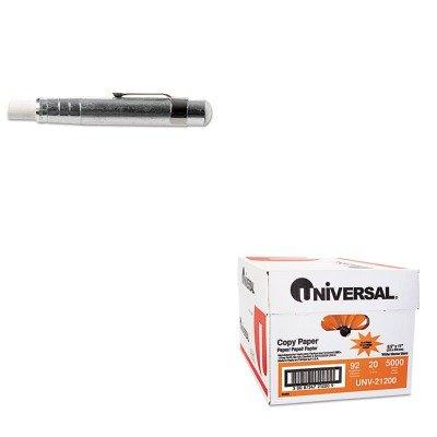 Charles Paper Holder - KITLEO74541UNV21200 - Value Kit - Charles Leonard Aluminum Chalk Holder (LEO74541) and Universal Copy Paper (UNV21200)