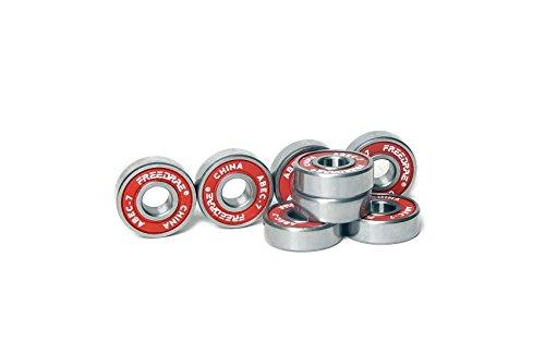 FREEDARE Bearings 608, ABEC 7 Bearings - Skateboard Bearings, Longboard Bearings, Skate Bearings(Red,1 Set of ()