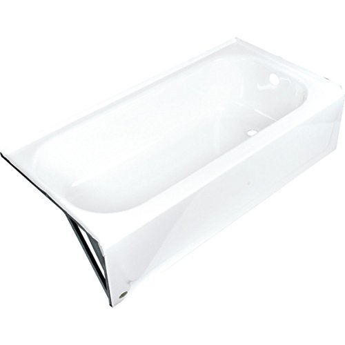 Bootz? Aloha Bathtub Left Hand Drain Enameled Steel - Enameled Steel Bathtub